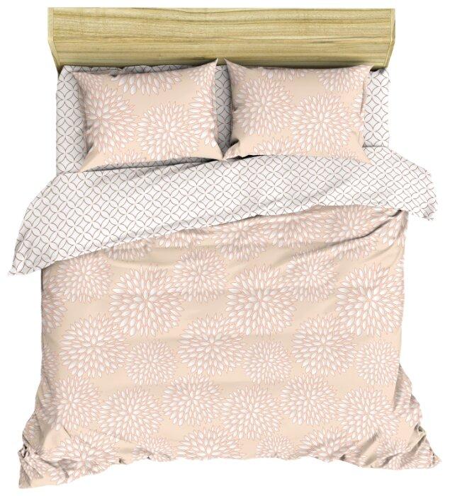 Постельное белье 1.5-спальное Василиса Французский стиль Каприз, перкаль розовый/белый
