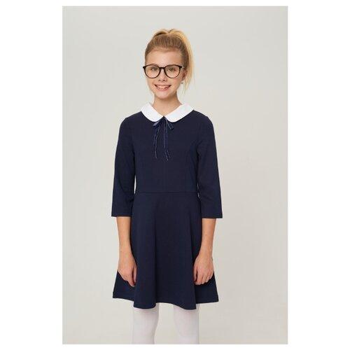 Купить Платье INFUNT размер 140, синий, Платья и сарафаны