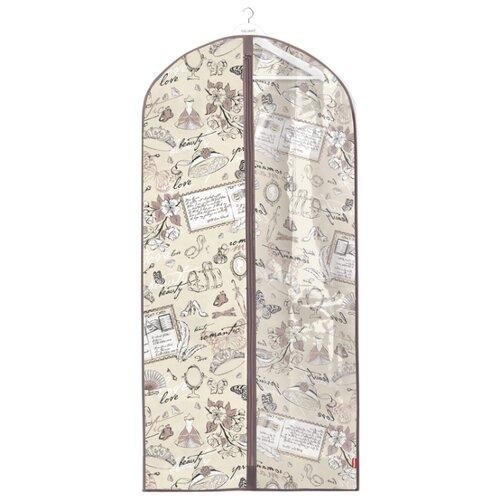 Valiant Чехол для одежды с прозрачной вставкой большой 137x60 см розово-бежевый