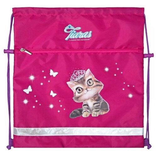 Купить Action! Мешок для обуви Animal Club Tiaras (ACI-ASS4305/2) розовый, Мешки для обуви и формы