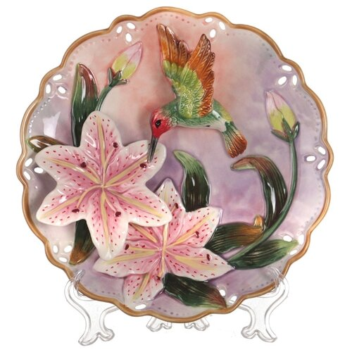 Тарелка декоративная настенная Lefard 59-383, 20 см розовый тарелка lefard 23 см белый