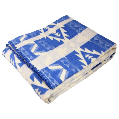 Одеяло ARLONI Геометрия хлопковый, всесезонное, 170 х 205 см (белый/синий)
