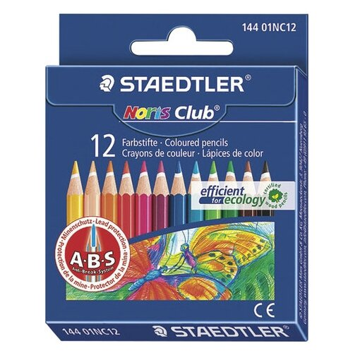 Купить Staedtler Карандаши цветные Noris club укороченные, 12 цветов (144 01NC1211), Цветные карандаши