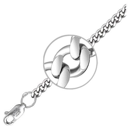 Адамант Браслет плетения Панцирное из серебра 04Б050725КГ10Р, 18 см, 27.16 г браслет яшма адамант