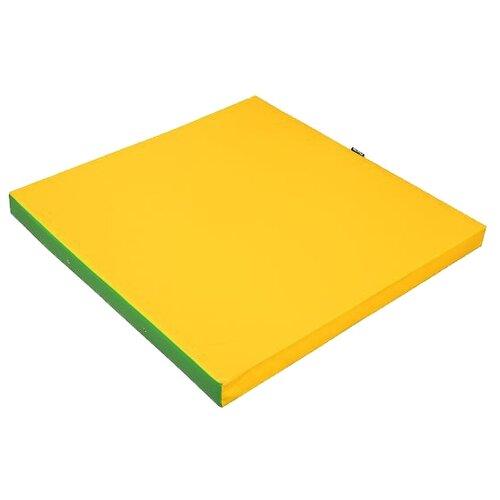 Спортивный мат 1000х1000х80 мм KETT-UP KU128 желтый/зеленый