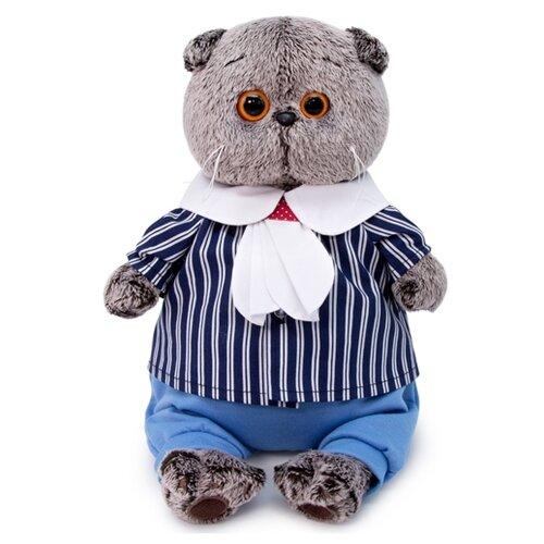 Купить Мягкая игрушка Basik&Co Кот Басик в морском костюме 22 см, Мягкие игрушки
