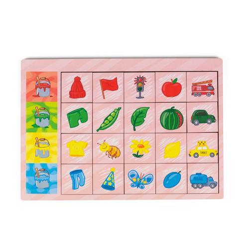 Настольная игра Сибирские игрушки Логические цепочки Цвета