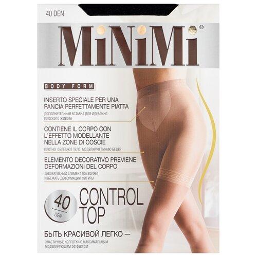 Колготки MiNiMi Control Top 40 den, размер 3-M, nero (черный) колготки minimi control top 40 den размер 2 s m nero черный