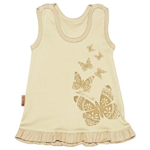 Купить Сарафан Linea di Sette Бабочка размер 92, молочный, Платья и юбки