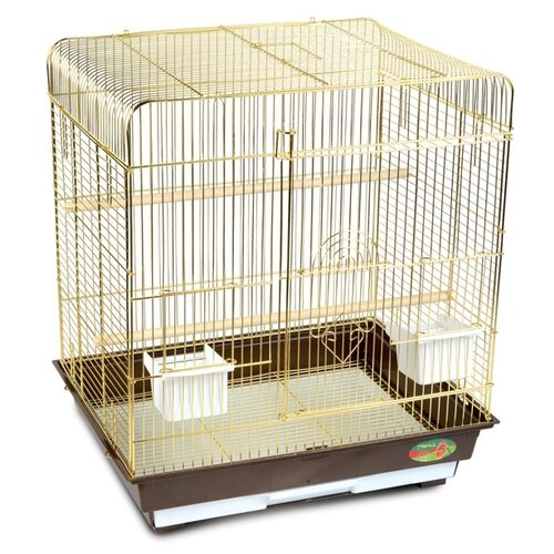 Клетка Triol 1302G 52х41х59см золотой/коричневый