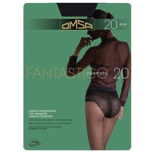 Колготки Omsa Fantastico 20 den, размер 4-L, nero (черный) колготки omsa fantastico 20 den размер 4 l nero черный