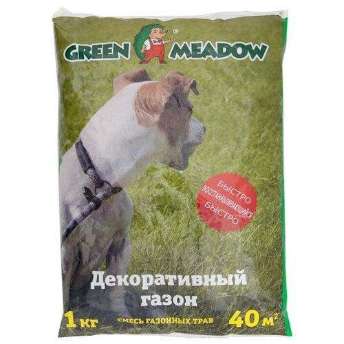 Смесь семян для газона GREEN MEADOW Быстро восстанавливающийся декоративный газон, 1 кг