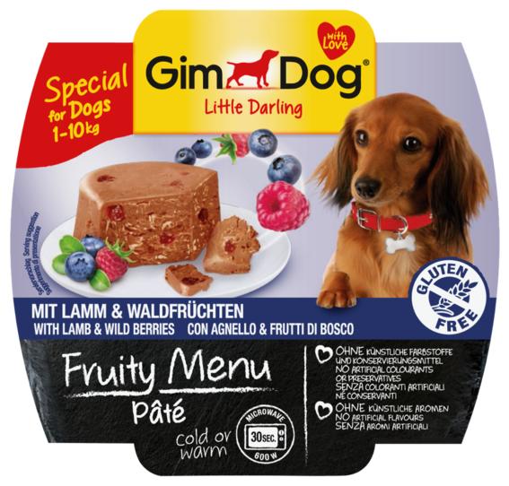 Корм для собак GimDog Little Darling Fruity Menu паштет из ягненка с лесными ягодами