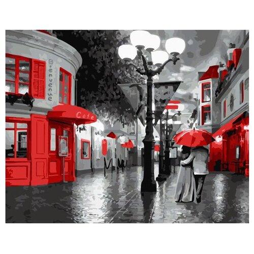 Купить Картина по номерам ВанГогВоМне, 40х50см - Прогулка под красным зонтом, Paintboy, Картины по номерам и контурам