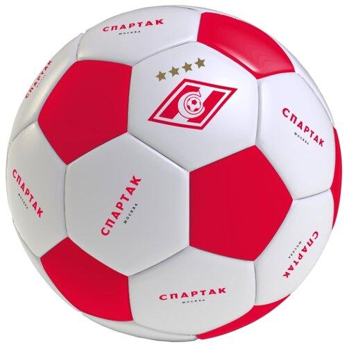 Футбольный мяч СПАРТАК SB1 белый/красный 5 цена 2017