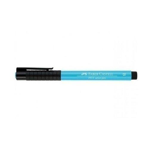 Faber-Castell ручка капиллярная Pitt Artist Pen Brush B, голубой цвет чернил faber castell ручка перьевая ambition birnbaum m