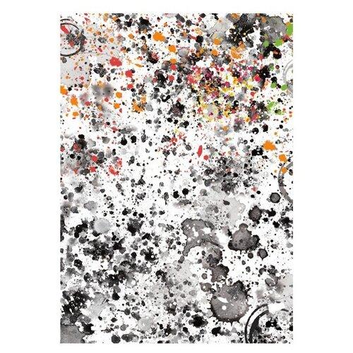 Купить Бумага рисовая мини - формат Брызги 21 х 29, 7 см (A4) 1 лист, Stamperia, Карты, салфетки, бумага
