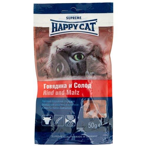 Лакомство для кошек Happy Cat Подушечки Говядина и солод, 50г