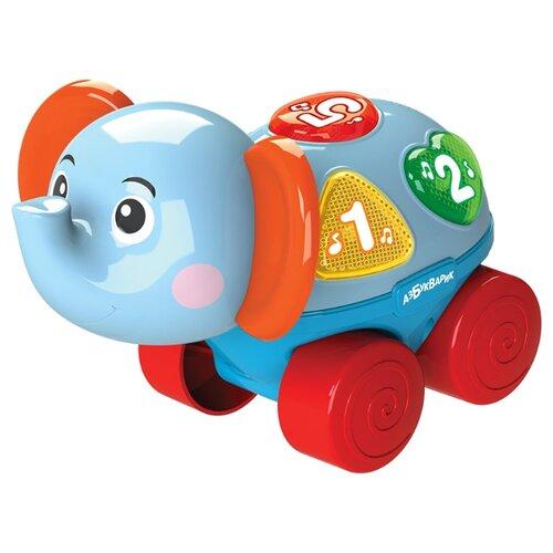 Фото - Развивающая игрушка Азбукварик Музыкальная каталочка Слоненок голубой roxy kids rbt20014 игрушка развивающая слоненок сквикер пищалка внутри размер 18 см