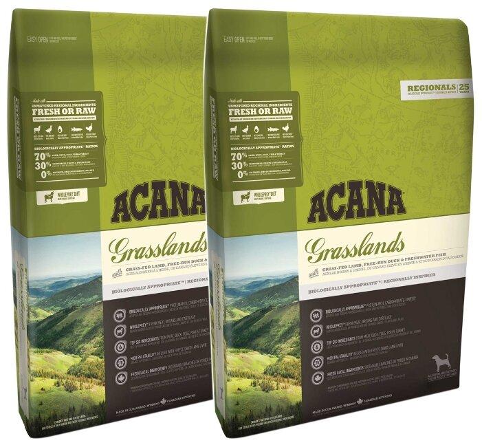 Корм для собак Acana Regionals Grasslands в интернет-магазинах — цены на Яндекс.Маркете