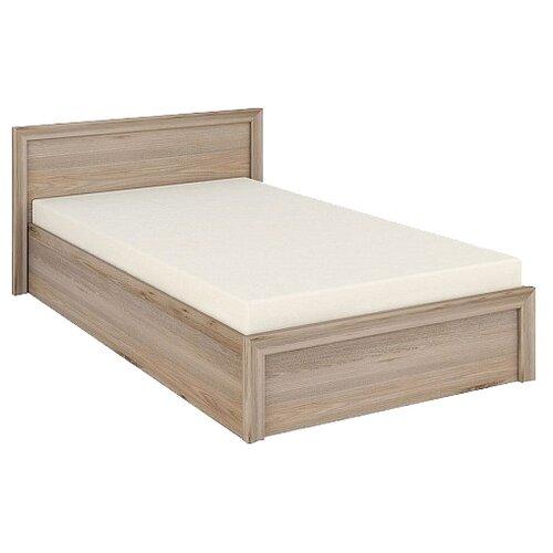 Кровать Мэрдэс Нобиле полутороспальная, размер (ДхШ): 212х144.6 см, спальное место (ДхШ): 200х120 см, каркас: ЛДСП, цвет: нельсон
