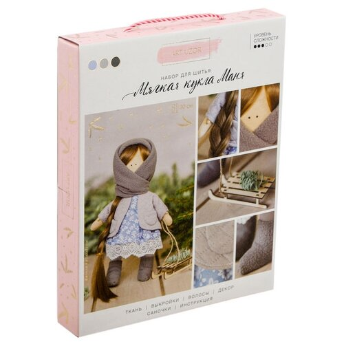 Купить Арт Узор Набор для шитья Интерьерная кукла Маня (3299323), Изготовление кукол и игрушек