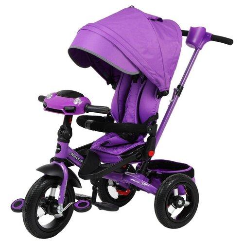 Купить Трехколесный велосипед Moby Kids New Leader 360° 12x10 AIR Car, фиолетовый, Трехколесные велосипеды