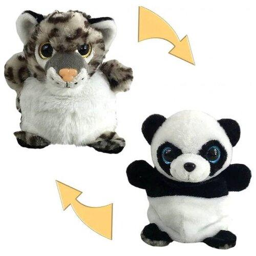Купить Мягкая игрушка Junfa toys Перевертыши Панда-Леопард 16 см, Мягкие игрушки