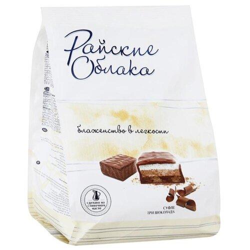 Конфеты Райские Облака Суфле три шоколада, пакет 200 г