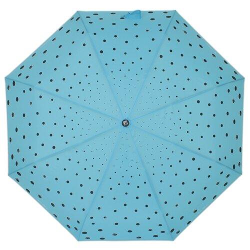 Зонт автомат FLIORAJ Кошки и точки голубой зонт складной flioraj flioraj fl976dwente7
