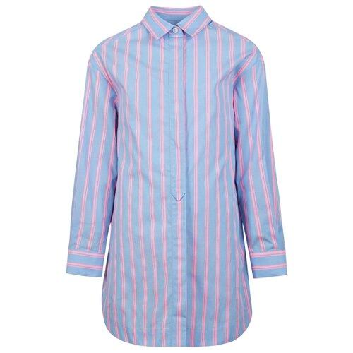 Рубашка Alberta Ferretti размер 152, голубой/розовый