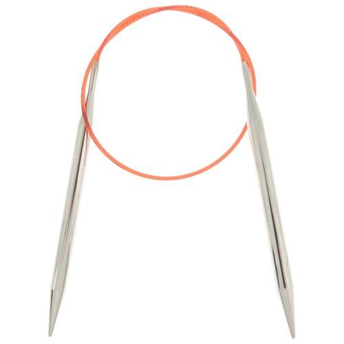 Купить Спицы ADDI круговые с удлиненным кончиком 775-7, диаметр 8 мм, длина 40 см, серебристый/красный