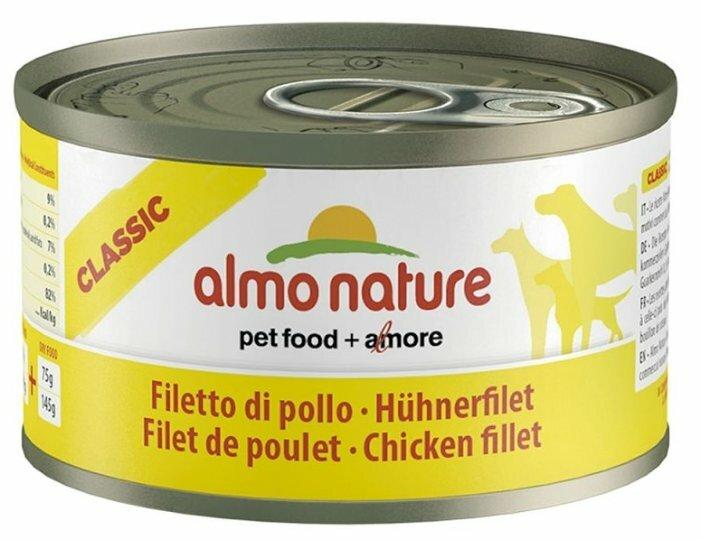 Корм для собак Almo Nature Classic куриное филе 95г