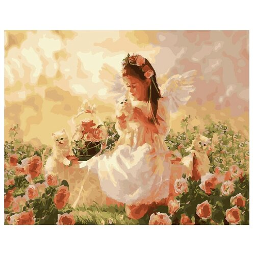 ВанГогВоМне Картина по номерам Девочка-ангелочек, 40х50 (ZX 21397)Картины по номерам и контурам<br>
