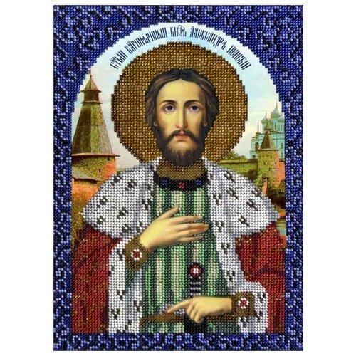 Вышиваем бисером Набор для вышивания бисером Икона Святой Александр Невский 18.5 х 26 см (L-79) набор для вышивания иконы вышиваем бисером l 68 святой пантелеймон целитель