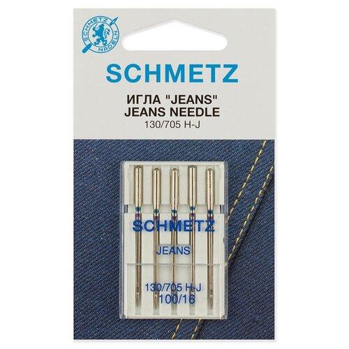 Игла/иглы Schmetz Jeans 130/705 Н-J 100/16 серебристый