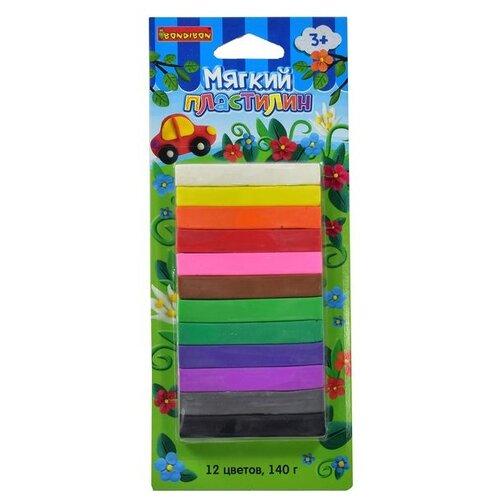 Купить Мягкий пластилин Bondibon, 12 цветов (арт. ST-140-12), Пластилин и масса для лепки