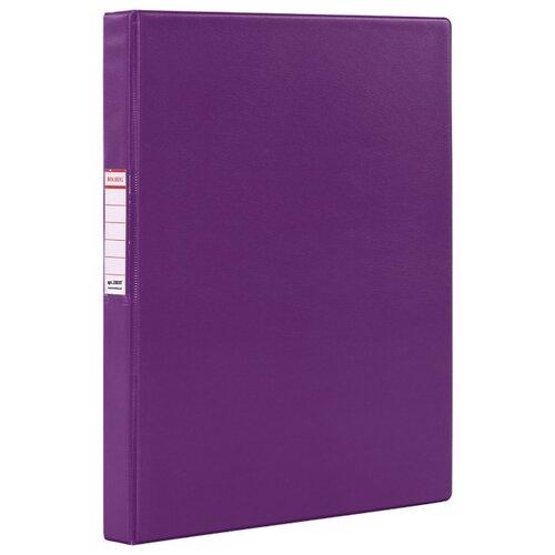 Купить BRAUBERG Папка на 2-х кольцах A4, картон/ПВХ, 35 мм фиолетовый, Файлы и папки
