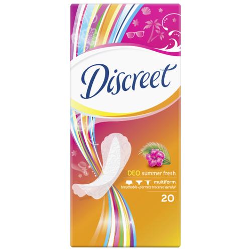Купить Discreet прокладки ежедневные Deo Summer Fresh Multiform 20 шт.