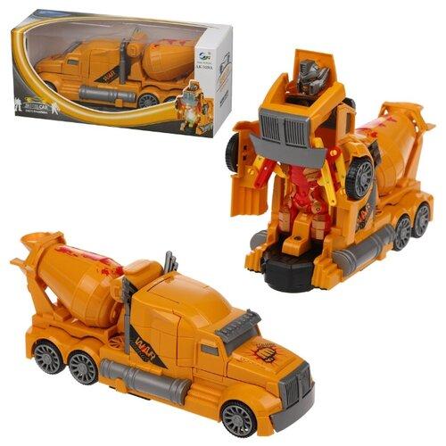 Купить Робот-трансформер Feng Fa Toys Super Car Машина-робот (Бетономешалка) AK-919A разноцветный, Роботы и трансформеры