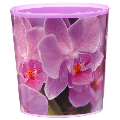 Кашпо Доляна Орхидея 14х14х14.5 см фиолетовый серп доляна 18 см