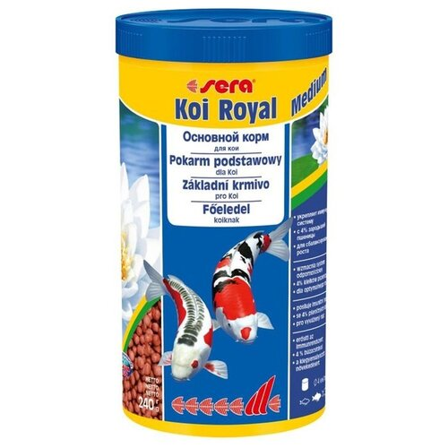 Сухой корм для рыб Sera Koi Royal ST medium 1000 мл 240 г сухой корм для рыб sera koi professional лето 1000 г