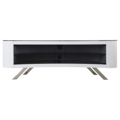 Тумба под телевизор AVF FS1500, цвет: белый/черный