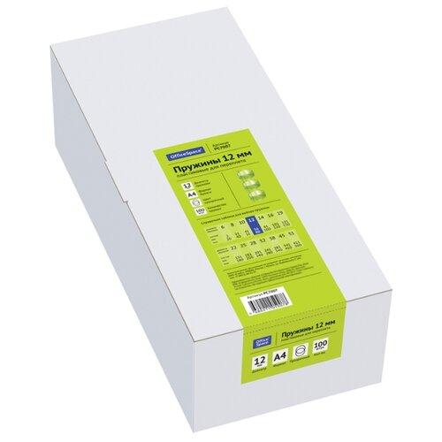 Фото - Пружина OfficeSpace пластиковые 12 мм прозрачный 100 шт. lightstar 006610 светильник proto cr mr16 hp16 хром прозрачный шт