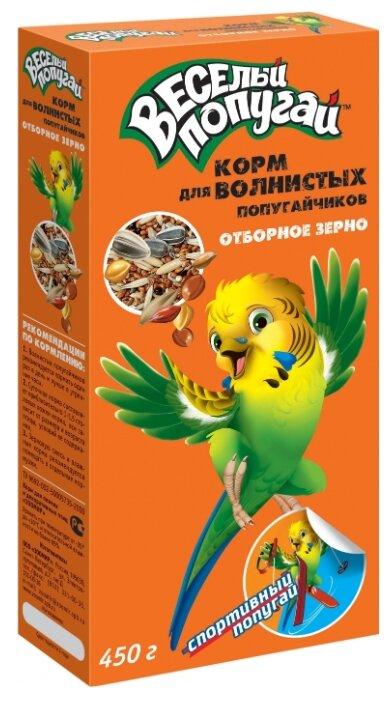 Зоомир корм Веселый Попугай с отборным зерном для волнистых попугаев