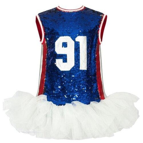 Платье Stilnyashka размер 110, красно-бело-синий