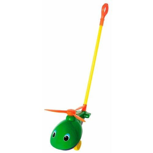 Каталка-игрушка Совтехстром Вертолет (У499) зеленый/желтый/оранжевый игрушка пластмассовая каталка вертолет play smart pac 28х15х10 см арт 1192