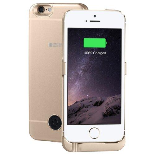 Купить Чехол-аккумулятор INTERSTEP Metal battery case для iPhone 5/5S/SE gold
