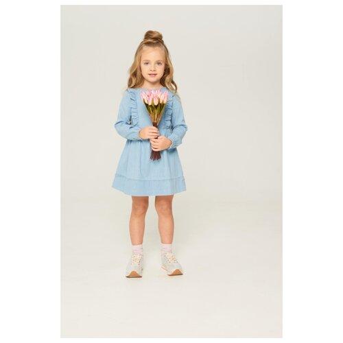 Купить Платье INFUNT размер 110, синий, Платья и сарафаны