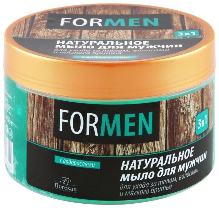 Мыло натуральное мужское Floresan 3 в 1 с водорослями